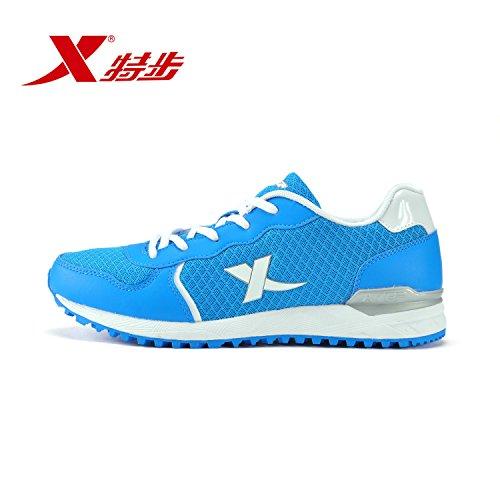 XTEP 特步 网面透气轻便耐磨男鞋时尚休闲跑步鞋