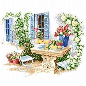 多美绣 大幅客厅卧室欧式风景油画休闲时光; 敦煌绣艺 十字绣   as简
