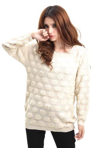LAMLORI 洛里 2011新秋冬新款女欧美时尚勾花宽松毛衣圆领针织衫打底毛衫