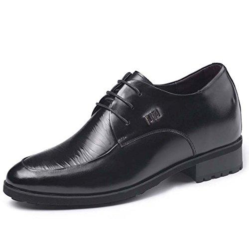 2015秋季新款特高男士内增高商务皮鞋8.0厘米515839