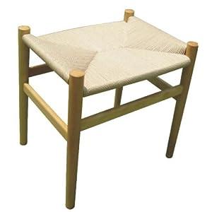 Sumax 喜多家居 实木换鞋凳 藤编 脚凳 50×46×40 cm (本色)