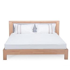 木头公园 实木家具 卧室双人床 大床 带软靠