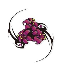 art plus 施华洛世奇水晶玫瑰红花图腾纹身 身体彩绘防水纹身贴男女 8