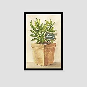 小清新手绘植物盆栽装饰画客厅现代简约