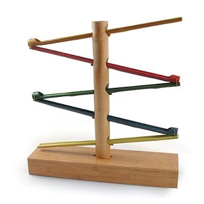honey hub 千变竹 滚动的韵律 竹子玩具 瑞士名牌 积木 环保 益智图片
