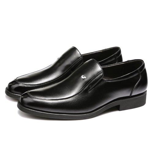 FGN 富贵鸟 男鞋 秋冬 新款 真皮 商务 正装 套脚 高档 头层牛皮鞋 流行 男鞋子