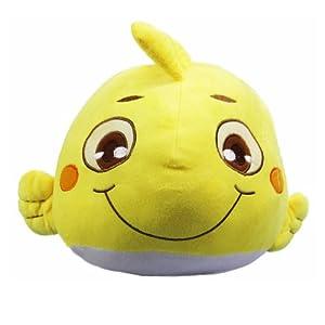 天真摩尼小鱼公仔 20cm 黄色 一只 毛绒玩具情侣抱枕结婚婚庆压床可爱