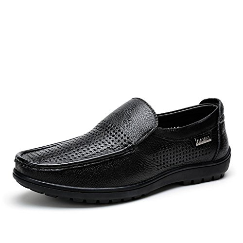 Camel 骆驼 男鞋 日常休闲透气男鞋 2015夏季新款套脚懒人休闲皮鞋