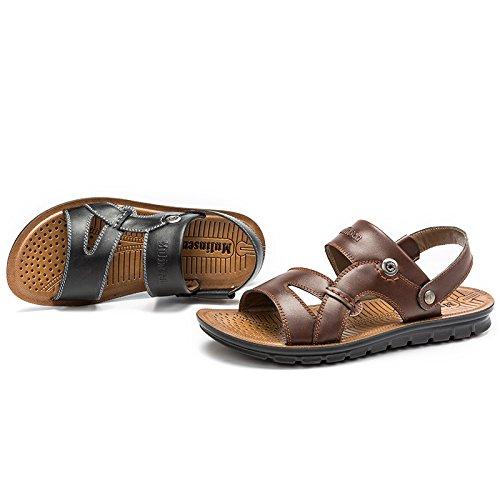MULINSEN 木林森 男凉鞋2015夏季新款真皮英伦日常休闲鞋透气防滑沙滩鞋男