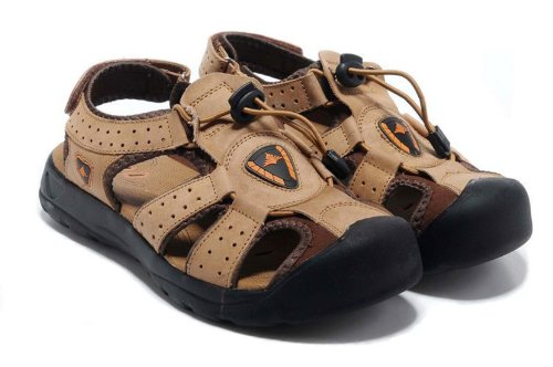 DEEWAHUA 男士休闲沙滩鞋 男士凉鞋 户外凉鞋 真皮韩版潮鞋 涉水时尚凉鞋