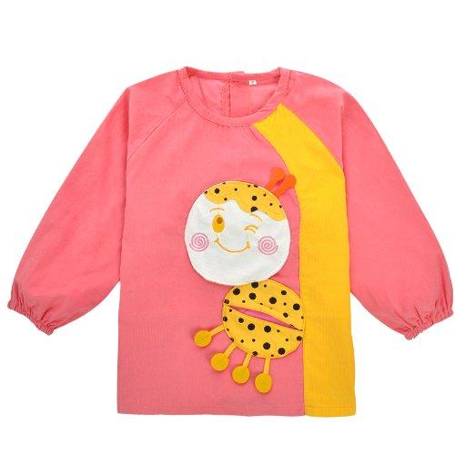 宝宝罩衣防水 护衣 贝儿舍儿童画画衣 吃饭衣 儿童罩衣 反穿衣(小青蛙