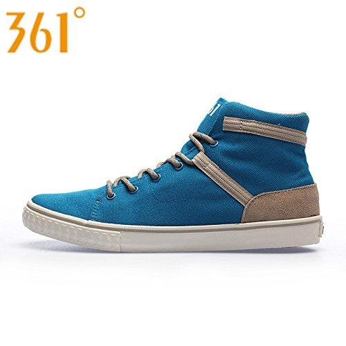 361 度官方正品男鞋休闲鞋潮流中帮帆布鞋硫化鞋 7236809