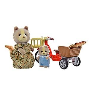 sylvanian families 森贝儿家族 娃娃玩具 娃娃组合 母子自行车 适合3