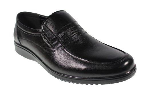 YEARCON 意尔康 日常休闲鞋真皮鞋男单鞋套脚男鞋子 25AE70124A