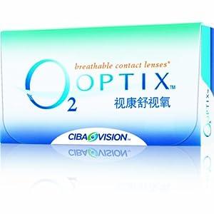 Alcon 爱尔康 CIBA VISION 2 OPTIX舒视氧软性隐形眼镜月抛(6片装 原装进口 硅水凝胶材质) -10.00(医)