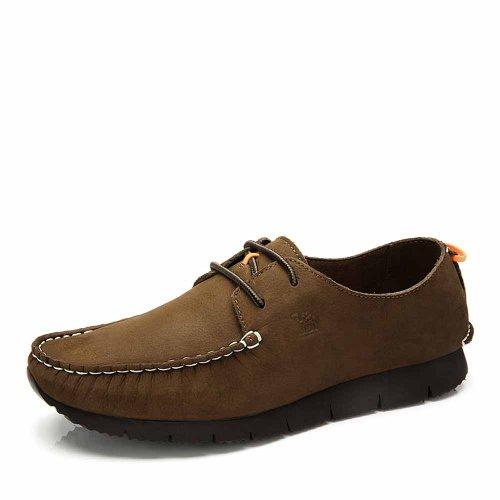Camel 骆驼 磨砂牛皮潮流鞋 男士休闲鞋皮鞋 A412155003