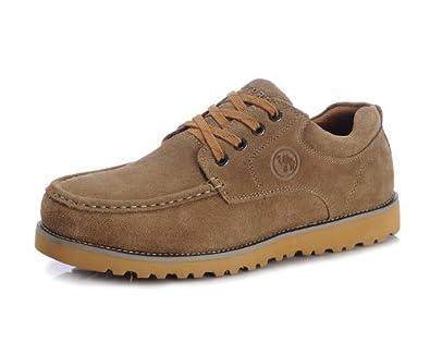 CANTORP 骆驼牌 低帮系带防水反绒皮男式户外休闲鞋