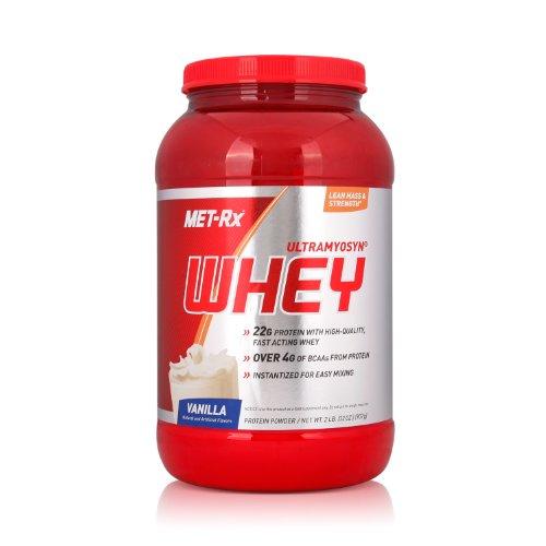 MET-Rx 美瑞克斯 Ultramyosyn乳清蛋白粉固体饮料(香草味)907g(进口)-图片