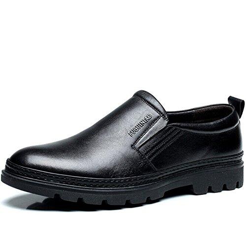 FUGUINIAO 富贵鸟 英伦男士低帮透气套脚商务休闲鞋 复古经典真皮正装鞋皮鞋 英伦头层牛皮男鞋