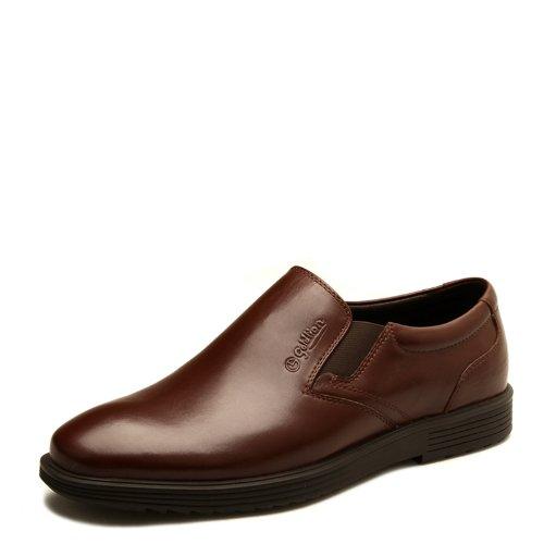Goldlion 金利来 男鞋专柜正品 光面大气商务休闲鞋 舒适男皮鞋 21131001AKB