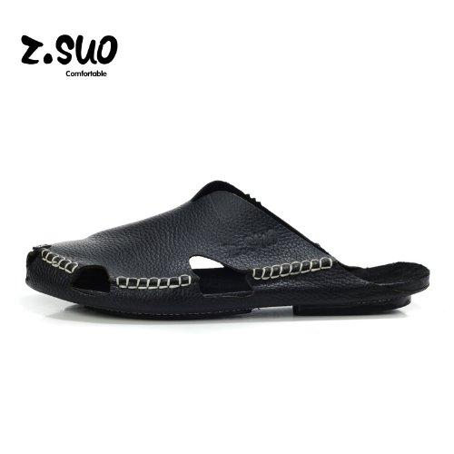 Z.SUO走索 夏季韩版 拖鞋 凉鞋 网鞋 帆布鞋ZS605 黑色