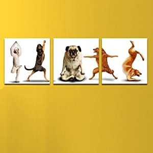 美时美刻 瑜伽休闲馆装饰画动物挂画儿童房无框画幼儿