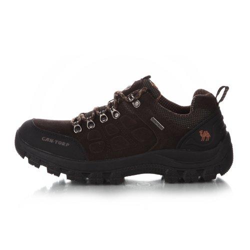 Cantorp 骆驼登山鞋户外鞋男 旅行鞋 徒步鞋 D13057橡胶 反绒皮低帮