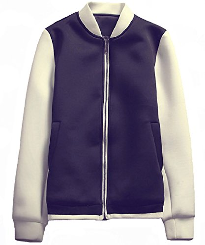 UYUK外套 男装秋装卫衣新款立领夹克韩版潮流休闲气质黑白撞色男士修身休闲夹克J022