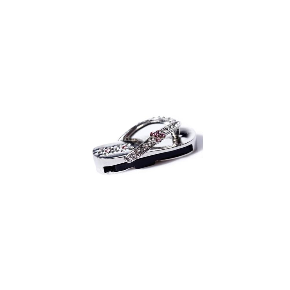 钻石拖鞋u盘8g-银色