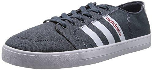 Adidas NEO 阿迪达斯运动生活 BASKETBALL 男 休闲篮球鞋 VLNEO BBALL LO F38419 铅灰/FTWR 白/校园红 42.5 (UK 8-)