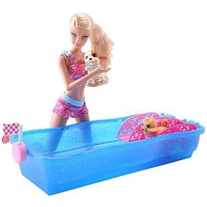 Barbie 芭比 芭比之狗狗游泳比赛X8404   ¥69