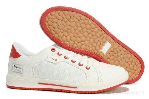 Warrior 回力 鞋经典运动鞋休闲鞋滑板鞋帆布鞋运动鞋 男板鞋学生鞋3056 白红色 39