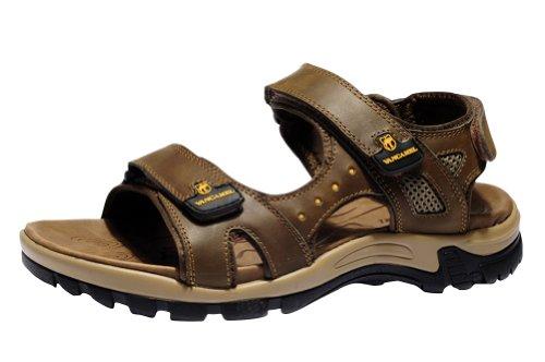 Vancamel 西域骆驼 2013新款男鞋沙滩透气男凉鞋真皮凉拖鞋 D1314101036