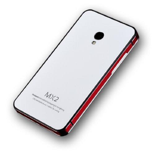 mx3 钢化玻璃后盖 钢化玻璃电池后盖 金属边框手机壳 mx2保护套 保护