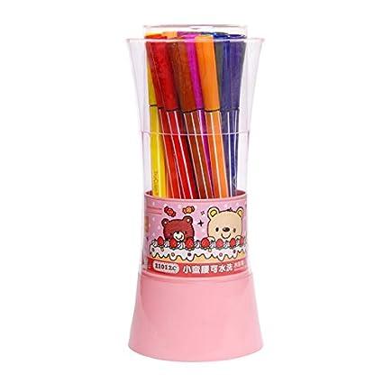 TRUECOLOR 真彩 迷你小蛮腰可洗水彩笔 24色/桶(粉色 2101C)9.9元