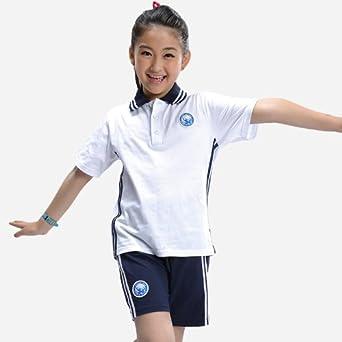 橙火 童装小学生夏季校服中学生校服套装运动服纯棉男童女童运动装图片