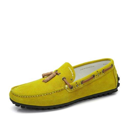 Camel 骆驼男鞋 夏季豆豆鞋日常休闲新品单鞋 磨砂牛皮舒适英伦套脚懒人男鞋A422092010