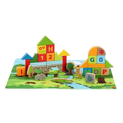 德国hape立体森林动物积木婴幼儿宝宝情景积木玩具100粒 1岁