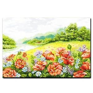 风景十字绣 罂粟花园