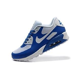 Nike 耐克 (男款)AIR max 90 通用跑步休闲运动鞋 蓝白