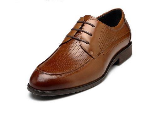 FGN 富贵鸟 2014春季新款 商务正装男士皮鞋 男 真皮 正品休闲男鞋子 T401595 棕色