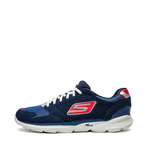 Skechers斯凯奇2015年新品男鞋 系带网布拼接休闲运动跑步鞋53926