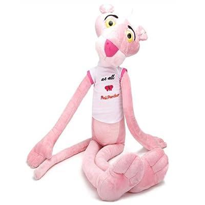 可爱顽皮豹 粉红豹公仔毛绒玩具 生日礼物女生 豹子玩偶 粉色 (70cm)
