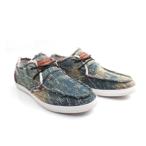 NORVINCY 诺凡希 拼色帆布低帮系带帆布鞋 韩版休闲时尚透气鞋子男 NVC12077 3.28