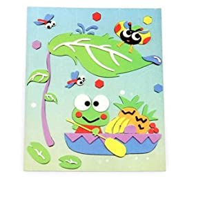 3d儿童早教益智玩具 卡通贴画拼图