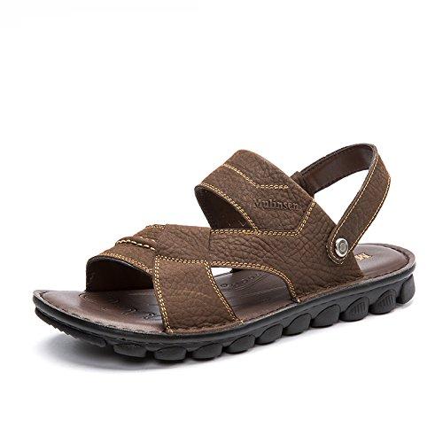 MULINSEN 木林森凉鞋男 真皮透气韩版休闲两穿凉拖鞋夏季热销大码沙滩鞋子
