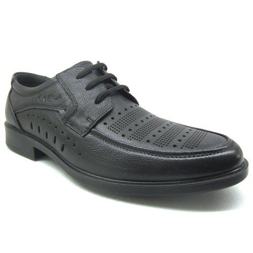 Goldlion 金利来 2013夏 新款 正品 免邮 牛皮 英伦潮流 休闲 系带 透气镂空 洞洞鞋 男 凉鞋
