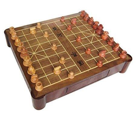 御圣-中国象棋套装-实木象棋-木质象棋棋盘