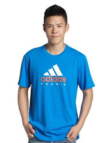 adidas 阿迪达斯 基础网球 短袖T恤 男式