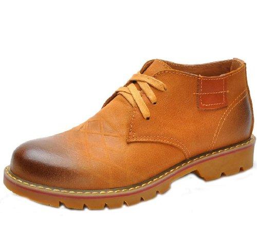 Camel 骆驼 英伦时尚杂志款品质潮流板鞋 韩版真皮舒适工装靴马丁靴 简约超酷牛仔靴男鞋